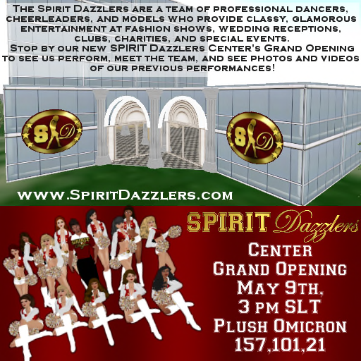 SPIRIT Dazzlers Center Grand Opening Ad